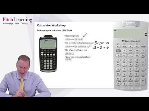 CFA Exam Calculator (BAII+) Introduction and Setup