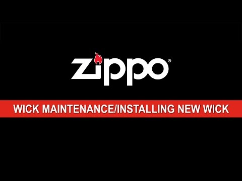 Zippo Instructional: Wick Maintenance / Installing a New Wick