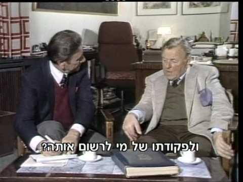 Film About The Life Of Teddy Kollek, Mayor Of Jerusalem