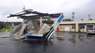 Tropical Storm Florence blows Fort Mill gas station roof down