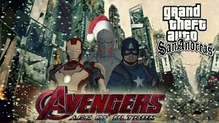 GTA SA AVENGERS AGE OF ULTRON Gameplay( PART1) (MOD) 2015