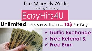 How To Earn Money From EasyHits4U Daily 5-10$ Extra Features || Income Strategy Video