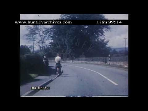 Road Near Wrexham, North Wales, 1950's.  Archive Film 99514