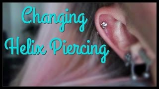 Changing my Helix Piercing FIRST TIME! | BreeAnn Barbie