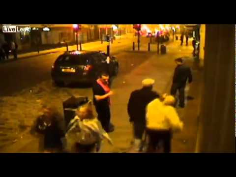 Drunken dickhead uses his elbow to settle a philosophical argument with a young woman  Colchester