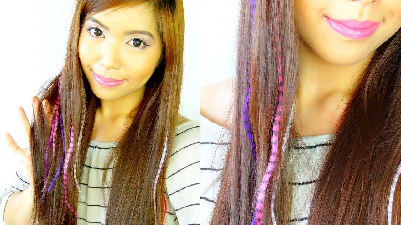 Feather Hair Extensions Saytiocoartillero Youtube