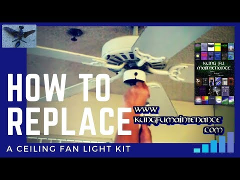 How to replace a ceiling fan light kit youtube how to replace a ceiling fan light kit aloadofball