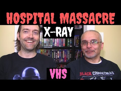 Hospital Massacre 1982 Blu-ray & VHS Horror Review Video! X-ray Movie! Barbi Benton! VHS Collection