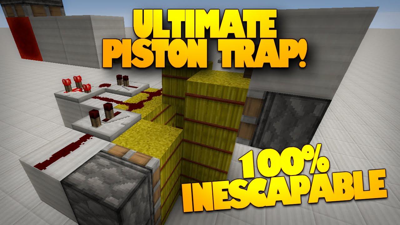 Minecraft Redstone The BEST Minecraft Trap 100