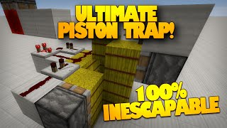 Minecraft Redstone | The BEST Minecraft Trap | 100% Inescapable Piston Trap! (Minecraft Redstone)