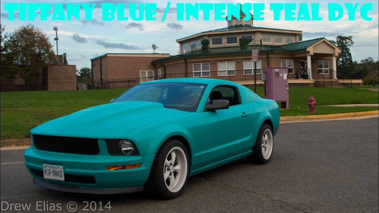 2008 Mustang Rims >> Tiffany Blue Mustang - Intense Teal Plastidip Dip Your Car DYC - YouTube