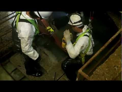 Confined space-surveying for trunk sewer