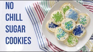 Easy No Chill Sugar Cookie Recipe, Dairy Free Options too