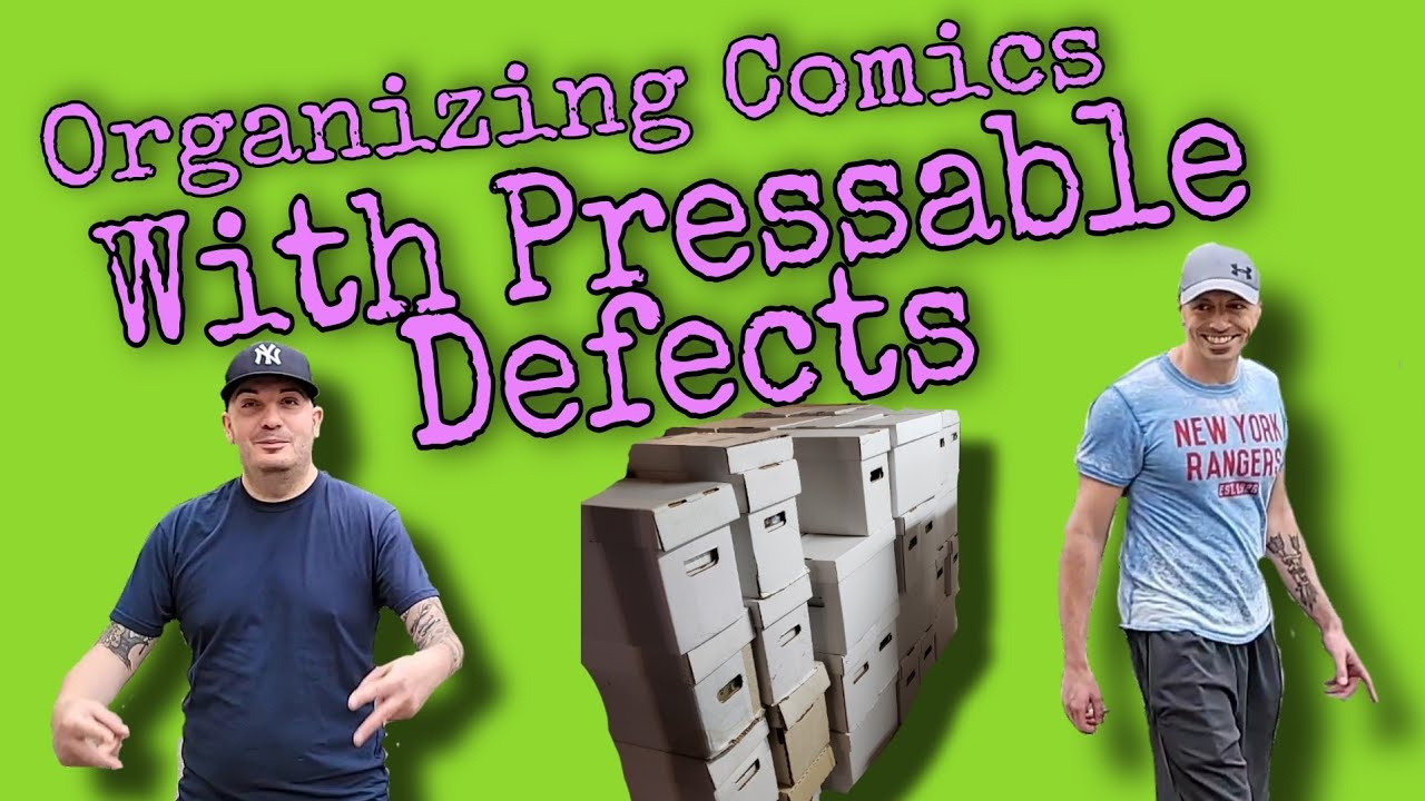 Vlog: Organizing Comic Books With Pressable Defects