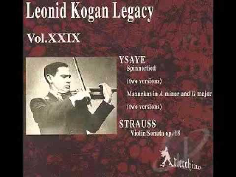 Strauss Violin Sonata - Leonid Kogan, violin