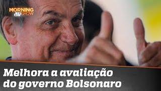 Melhora a avaliação positiva do governo Bolsonaro