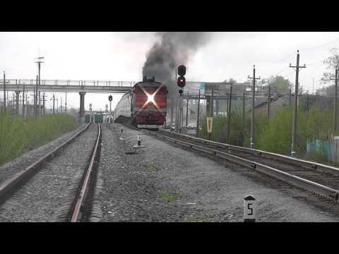 2ТЭ10М-3039  с поездом Уфа-Ташкент (РЖД, КБШ, Салават)