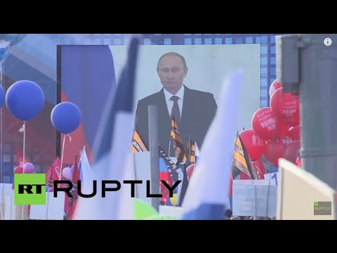 Russia: 100,000 in Moscow to celebrate Crimea referendum anniversary