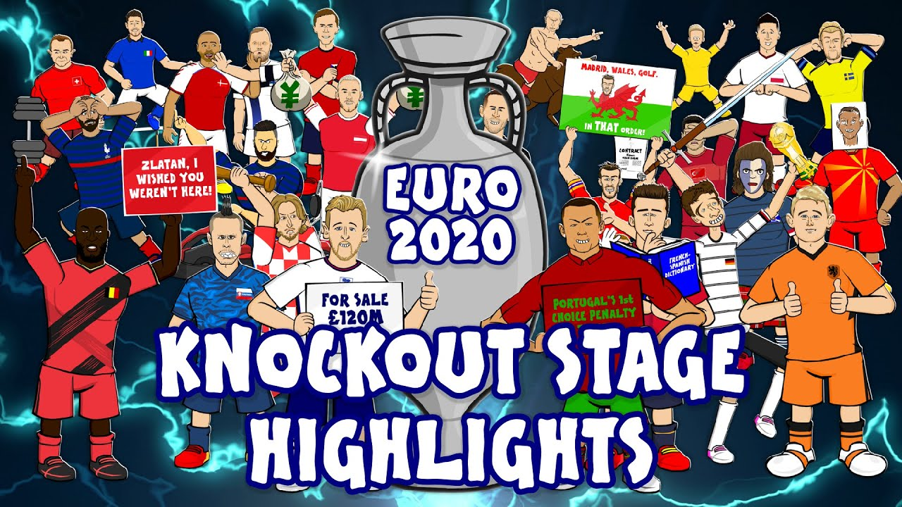 🏆Euro 2020 Knockout Stage Highlights🏆 (Italy, England, France, Spain & more!)