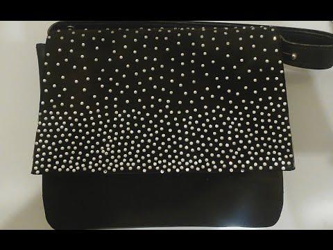 Как черную украсить сумку своими руками фото