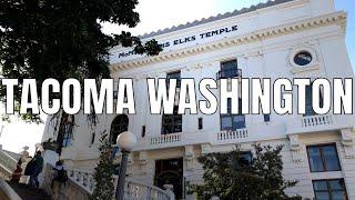 Tacoma, Washington 2019 | Dome, Downtown, Marina | 4K 60ᶠᵖˢ | Virtual Walking Tour | City