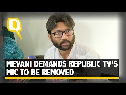 Chennai Journalists Walk out After Jignesh Mevani Says 'Remove Republic TV's Mic' | The Quint
