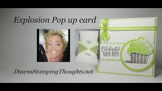 Explosion Pop Up card