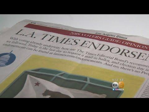 LA Times Making Headlines For Conflicting Political Endorsements