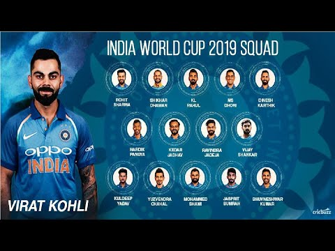 ICC World Cup 2019 India Player List: BCCI announces Indian Squad led by Virat Kohli & Rohit Sharma