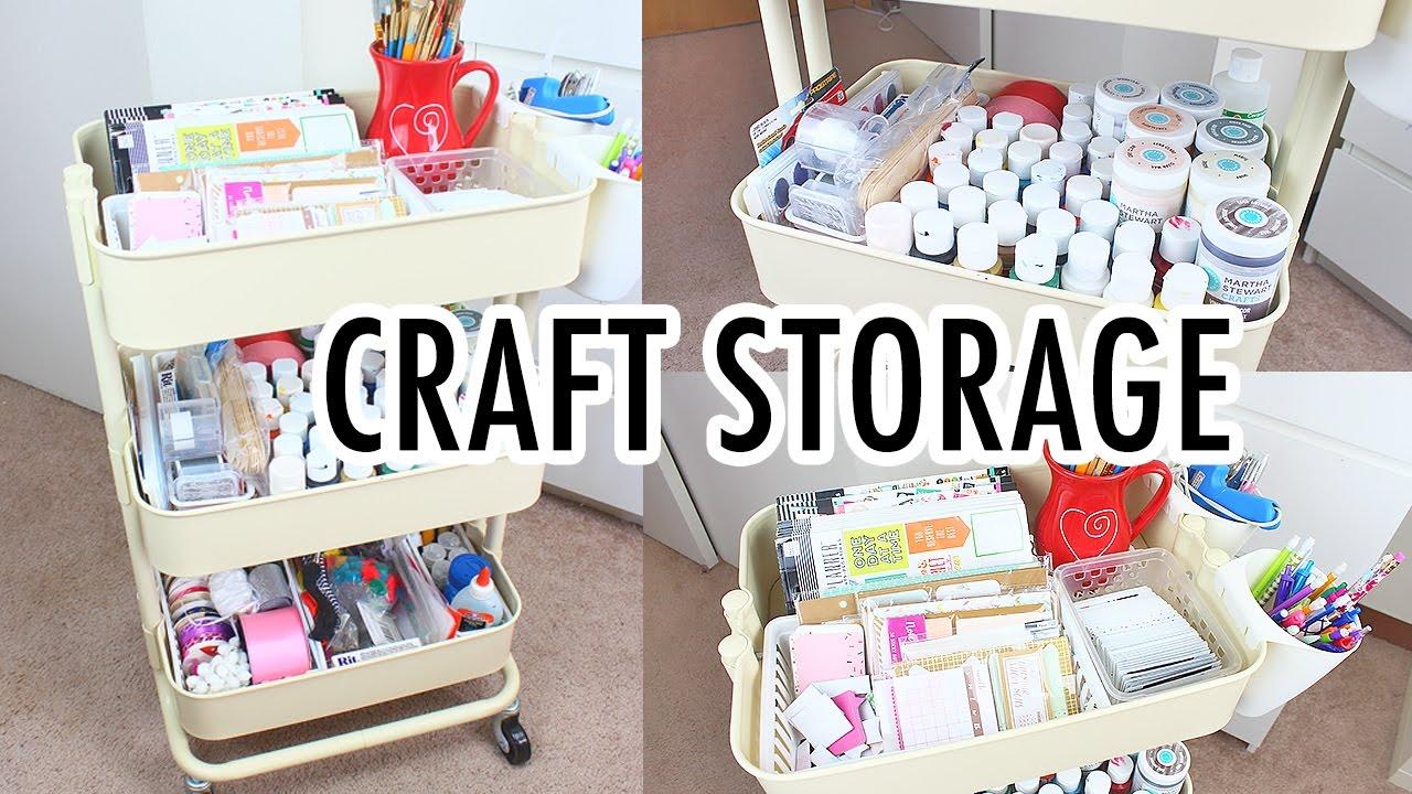 Ikea Raskog Cart  Craft Storage  YouTube