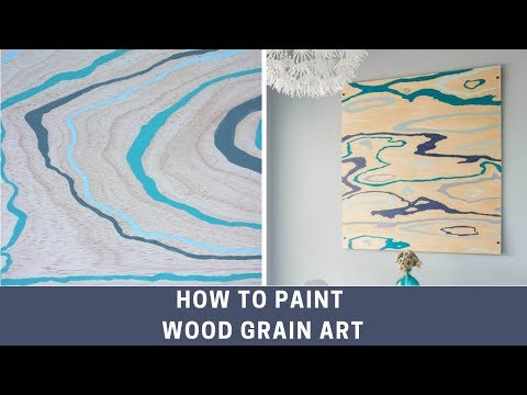 How to paint wood grain art on plywood