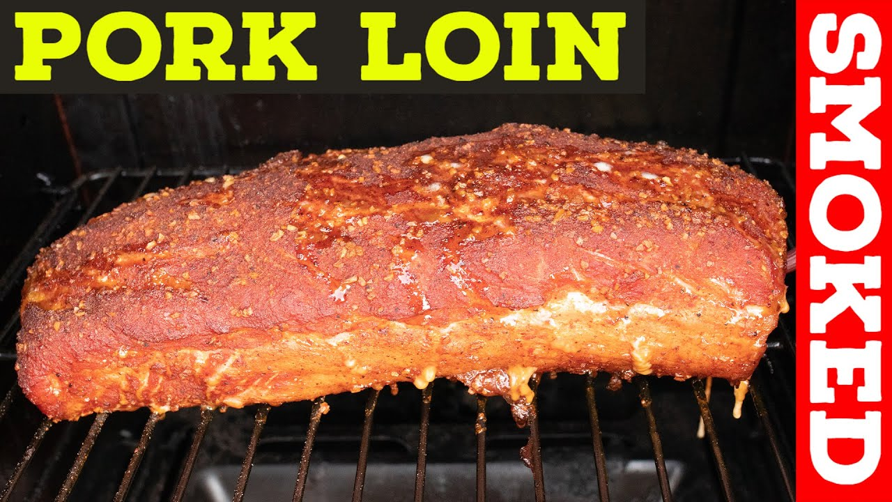 Smoking Pork Loin On A Pit Boss
