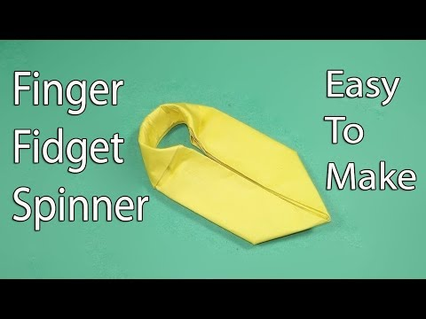 How to make a Paper Fidget Spinner without a bearing - Origami Fidget Spinner - Diy Fidget Spinner