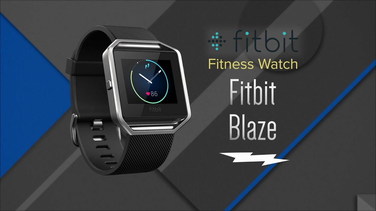 Fitbit Blaze Fitness Watch FB502SBKL - Overview and Features - YouTube