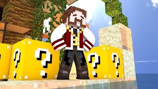 Minecraft: SKYWARS em Servidor Pirata! - LUCKY BLOCK NO SKYWARS!! :O