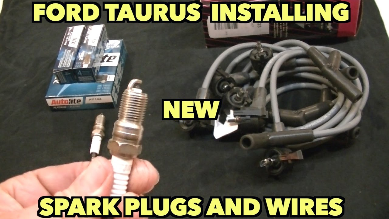 1995 2006 Ford Taurus New Plugs And Wires Tricks To Install Them On 1994 Starting Charging Wiring Schematic Back Of Motor