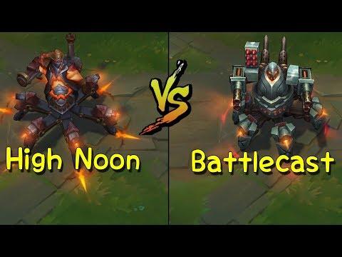High Noon Urgot vs Battlecast Urgot Skin Comparison (League of Legends)