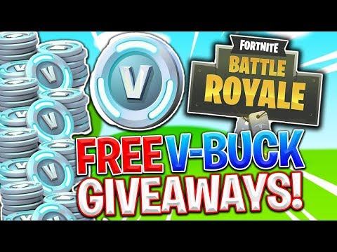 FREE V-BUCK GIVEAWAY! FORTNITE BATTLE ROYALE