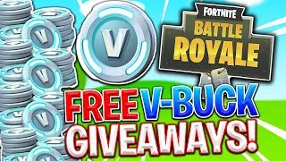 FREE V-BUCK GIVEAWAY! FORTNITE BATTLE ROYALE