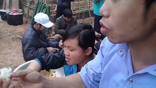 Mổ Lợn Mổ Gà Làm Cỗ Lên nhà mới Dân Tộc Thái