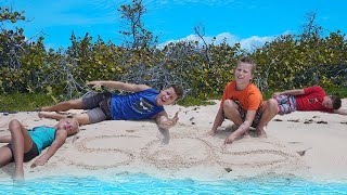 Family survival challenge! DESERTED ISLAND! Day 2