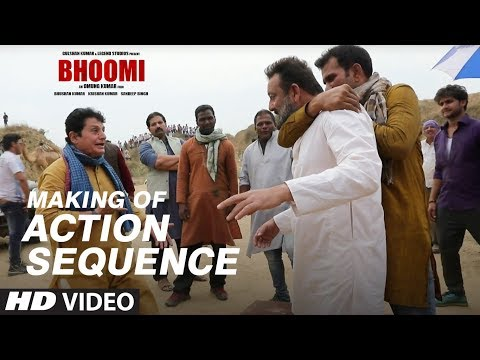 Making of Bhoomi: Action Sequence   Sanjay...