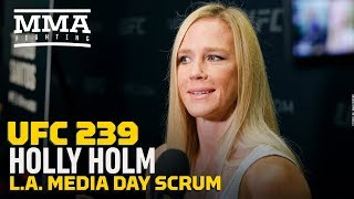 UFC 239: Holly Holm Los Angeles Media Day Scrum - MMA Fighting