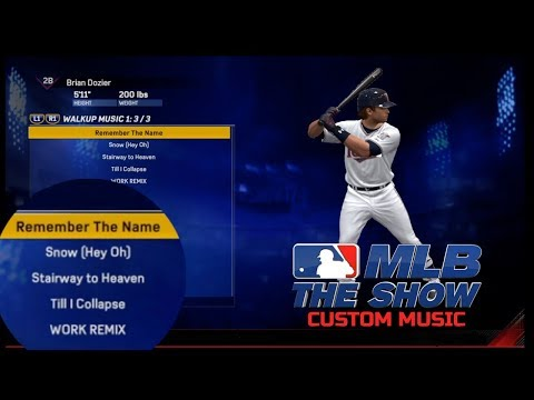 How To Add Custom Batter Walk Up Music - MLB The Show 17 (Works On MLB 18 Too)