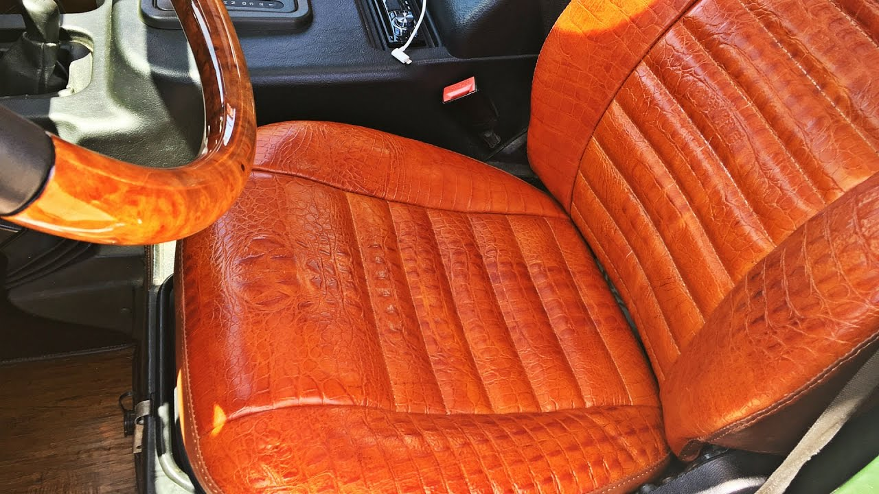 Ostrich Leather Car Seats