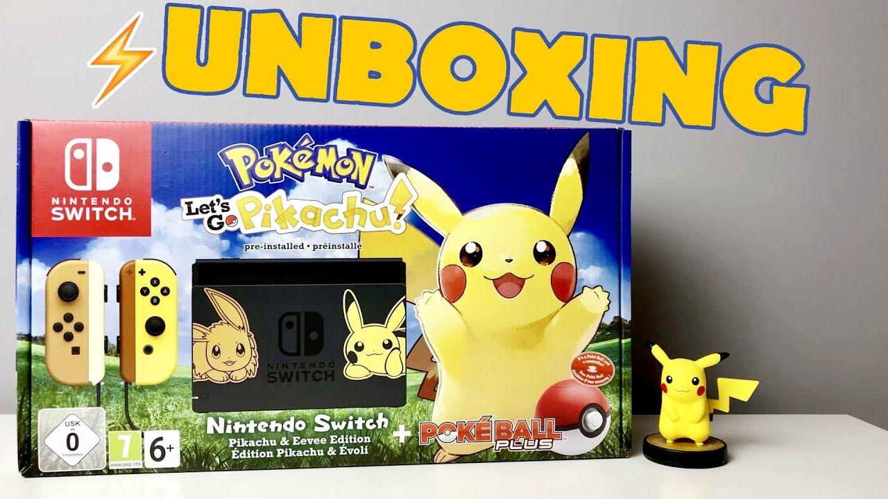 Unboxing Nowy Nintendo Switch Pikachu Eevee Edition Poke