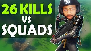 26 KILLS VS SQUADS | MY PERSONAL RECORD | HIGH KILL FUNNY GAME FT. HAMLINZ- (Fortnite Battle Royale)
