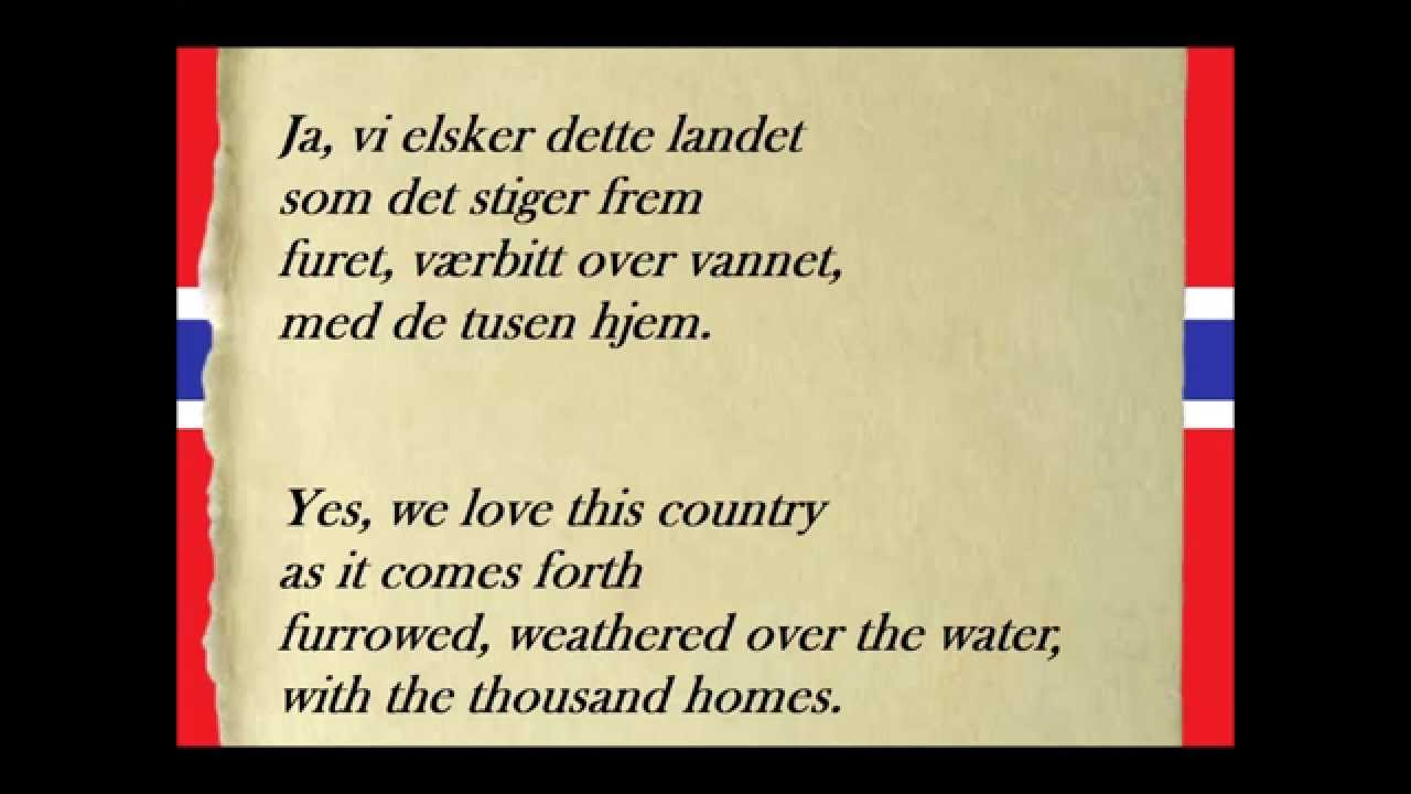 The Norwegian National Anthem What Does It Mean In English Youtube