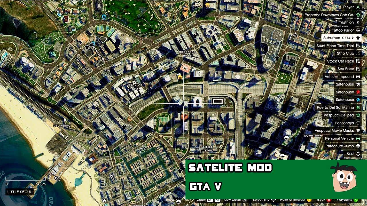GTA V PC MODS Radio Weapons e Mapa Satelite Satellite View Map