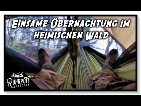 Einsame Übernachtung im heimischen Wald - Ruhrpott Outdoor